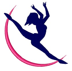 Lady Dancer embroidery design