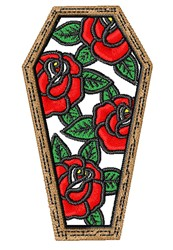 Floral Coffin embroidery design