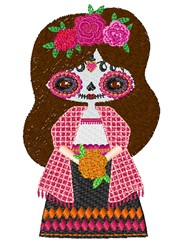Day Of Dead Girl embroidery design