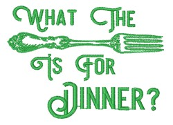 What The Fork embroidery design