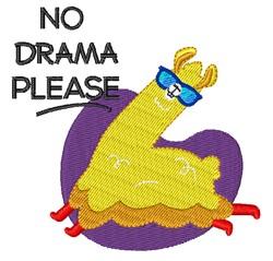 No Drama embroidery design