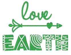 Love Earth embroidery design