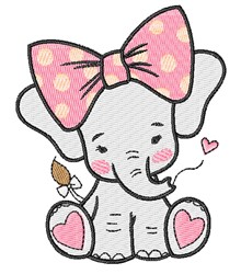 Girl Elephant embroidery design