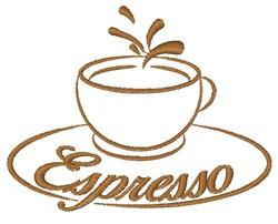 Espresso embroidery design