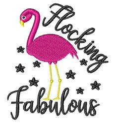 Flocking Fabulous embroidery design