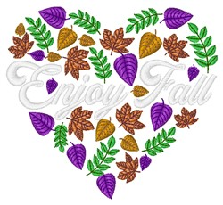 Enjoy Fall embroidery design