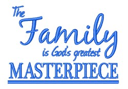 Family Masterpiece embroidery design