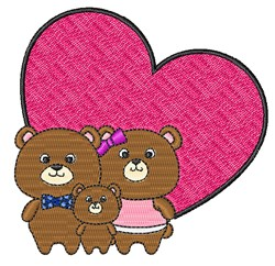 Teddy Bear Love embroidery design
