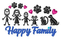 Happy Family embroidery design