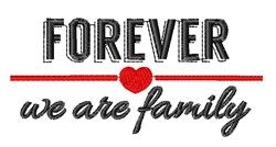 Forever Family embroidery design