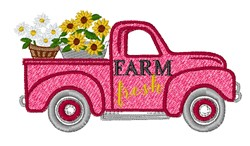 Farm Fresh Truck embroidery design
