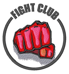 Fight Club embroidery design