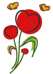 Heart Flower embroidery design