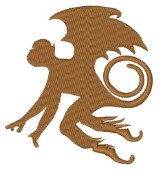 Flying Monkey embroidery design