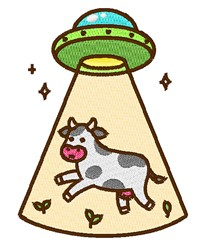 UFO Cow embroidery design