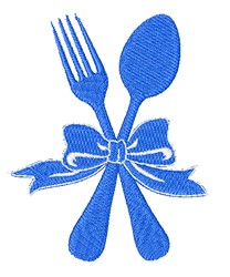 Fork & Spoon embroidery design