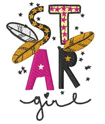 Star Girl embroidery design