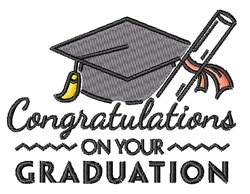 Your Graduation embroidery design