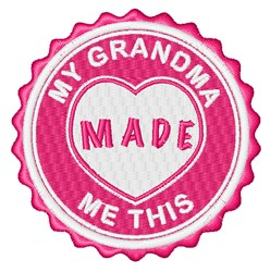 Grandma Made This embroidery design