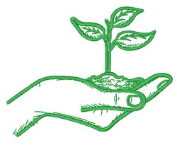 Plant In Hand embroidery design