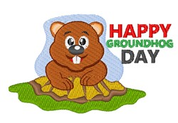 Groundhog Day embroidery design