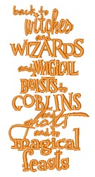 Witches & Wizards embroidery design