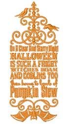 Pumpkin Stew embroidery design