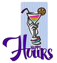 Happy Hours embroidery design