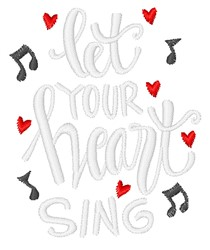 Let Heart Sing embroidery design
