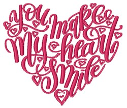 My Heart Smile embroidery design
