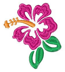 Purple Hibiscus embroidery design