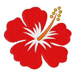 Red Hibiscus embroidery design