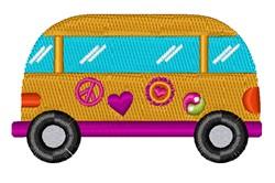Hippy Van embroidery design