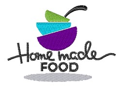 Homemade Food embroidery design
