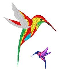 Humminhgbirds embroidery design