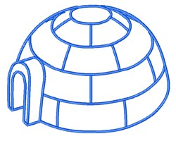 Igloo Outline embroidery design