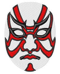 Oriental Mask embroidery design