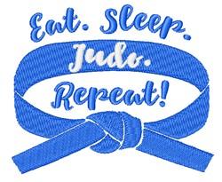 Eat Sleep Judo embroidery design