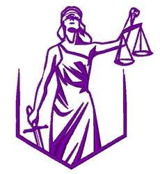 Blind Justice embroidery design