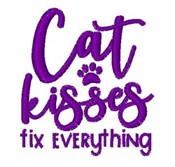 Cat Kisses embroidery design