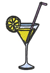 Lemon Drink embroidery design