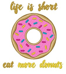Eat More Donuts embroidery design