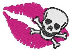 Kiss Skull & Crossbones embroidery design