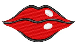 Red Lips embroidery design