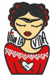 Viva La Vida embroidery design