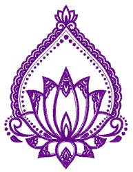Lotus Bloom embroidery design