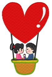 Love Balloon embroidery design