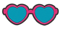Heart Glasses embroidery design