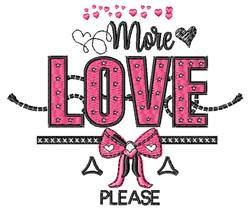 More Love embroidery design