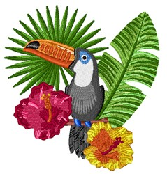 Tropical Toucan embroidery design